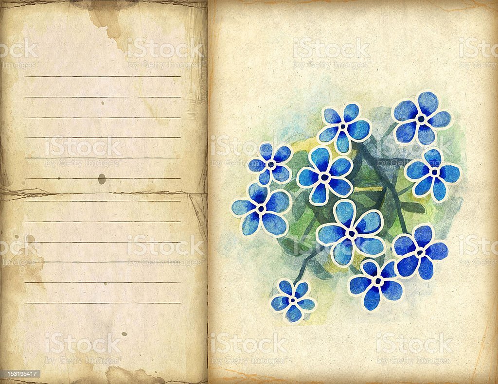 Background with watercolor flowers royalty-free stock vector art