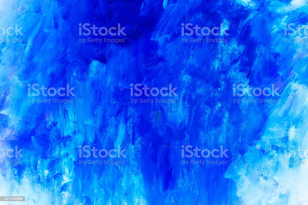 Backgrounds. Abstract textured blue painting. stock photo