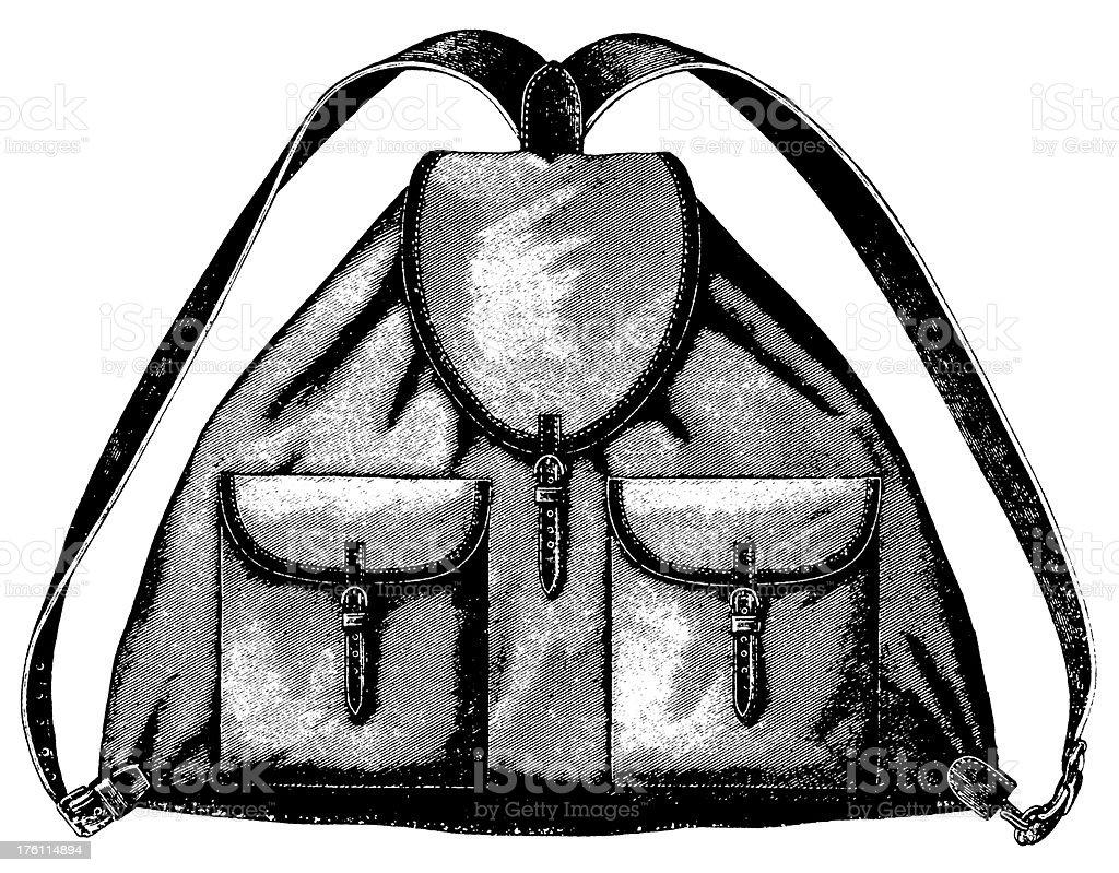Backpack | Antique Design Illustrations royalty-free stock vector art