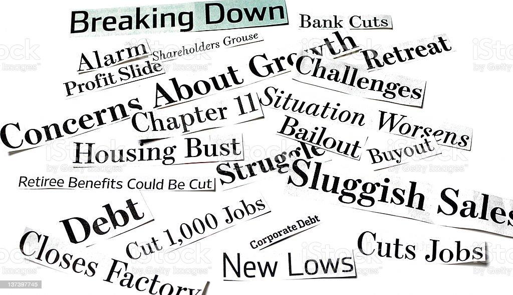 Bad Economic News vector art illustration