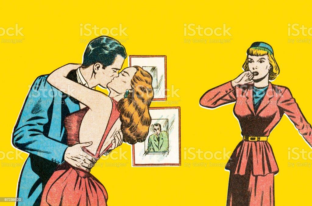 Bad kiss royalty-free stock vector art