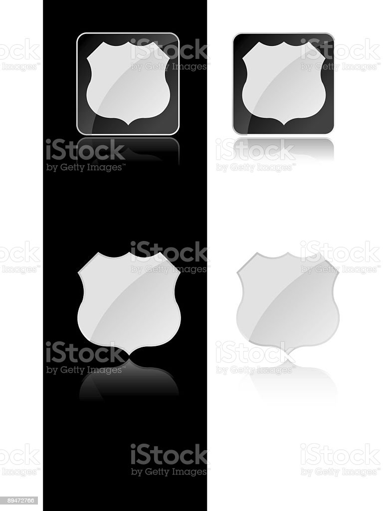 Badge or Road Sign royalty-free stock vector art
