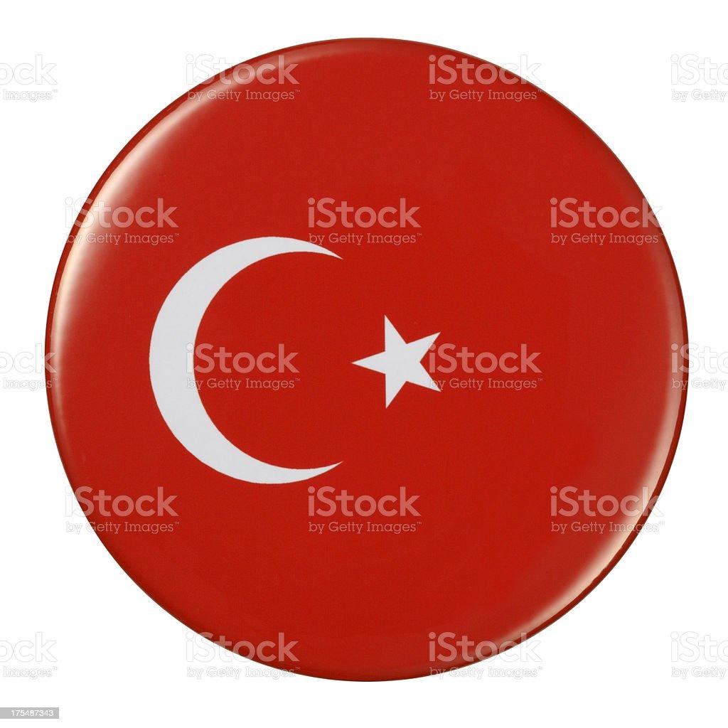 Badge - Turkey flag royalty-free stock vector art