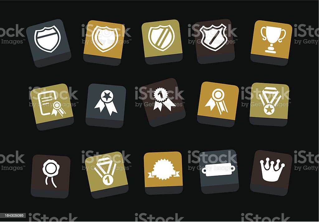 Badges Icon Set royalty-free stock vector art