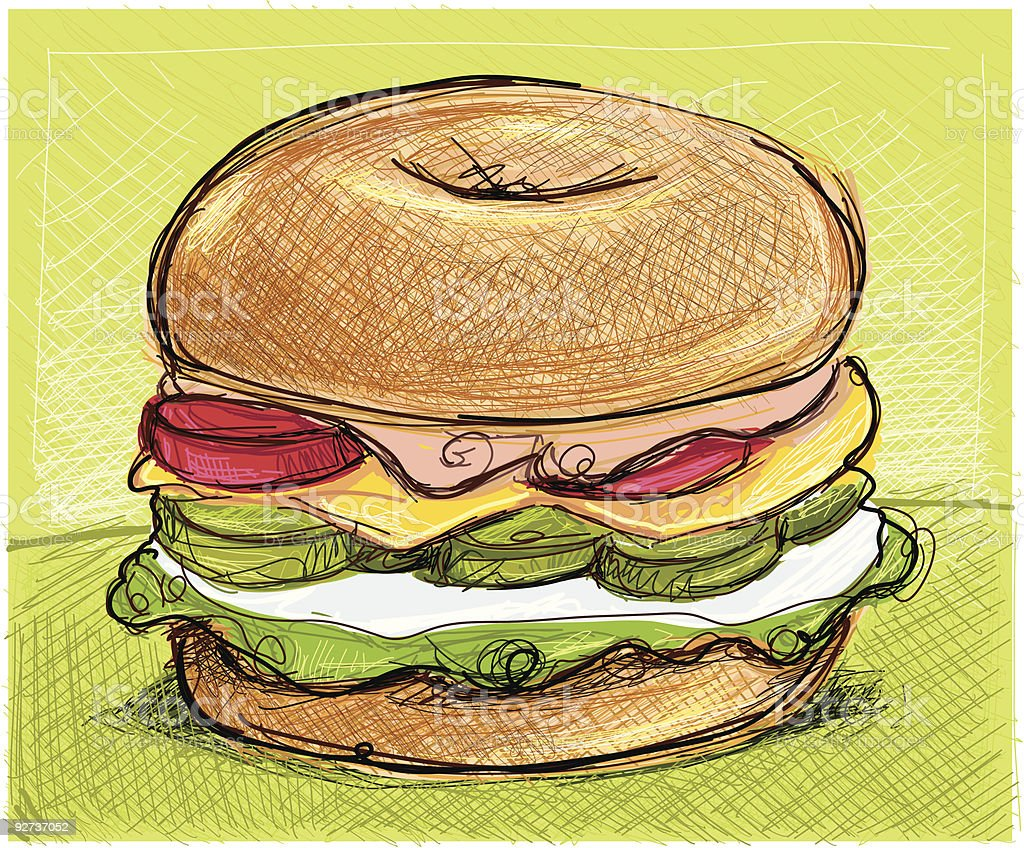 bagel vector art illustration