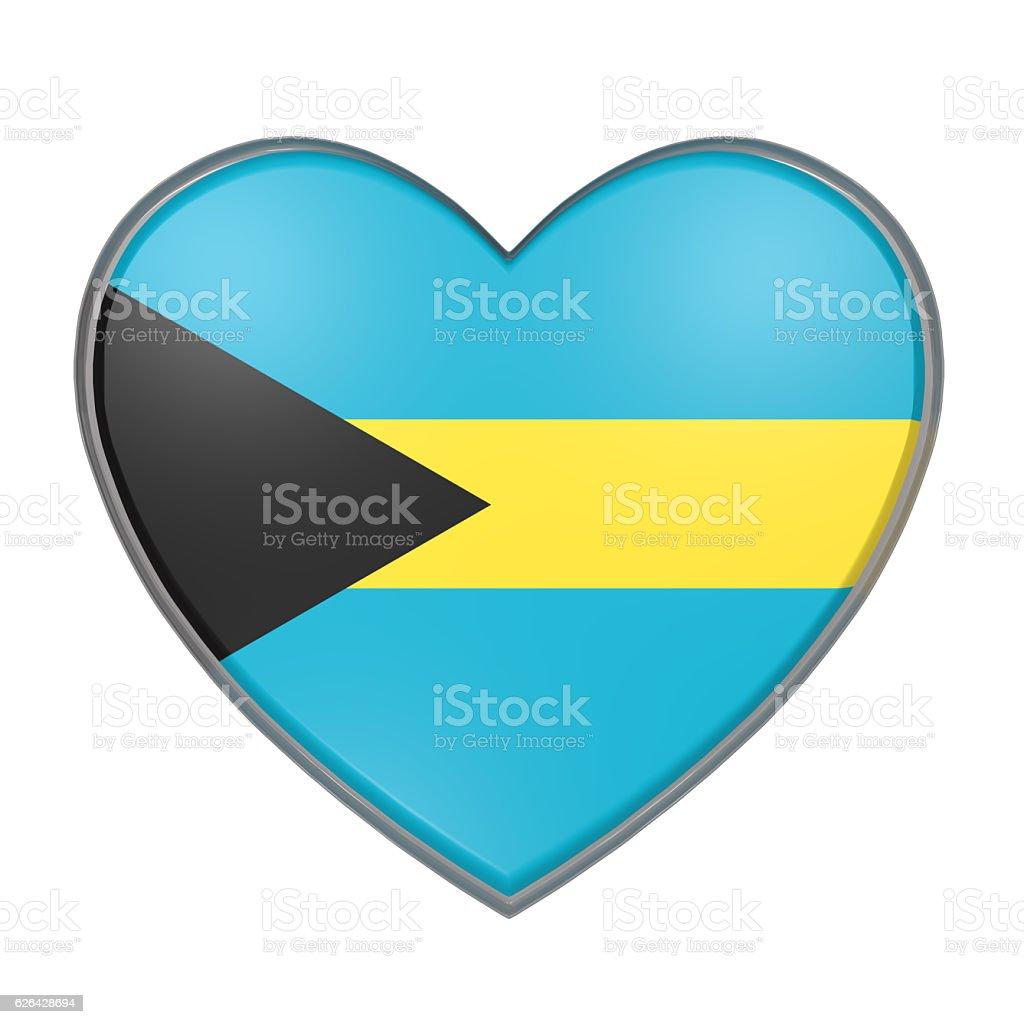 Bahamas heart vector art illustration
