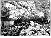 Bain's Kloof, near Wellington, Cape Colony (1882 engraving)