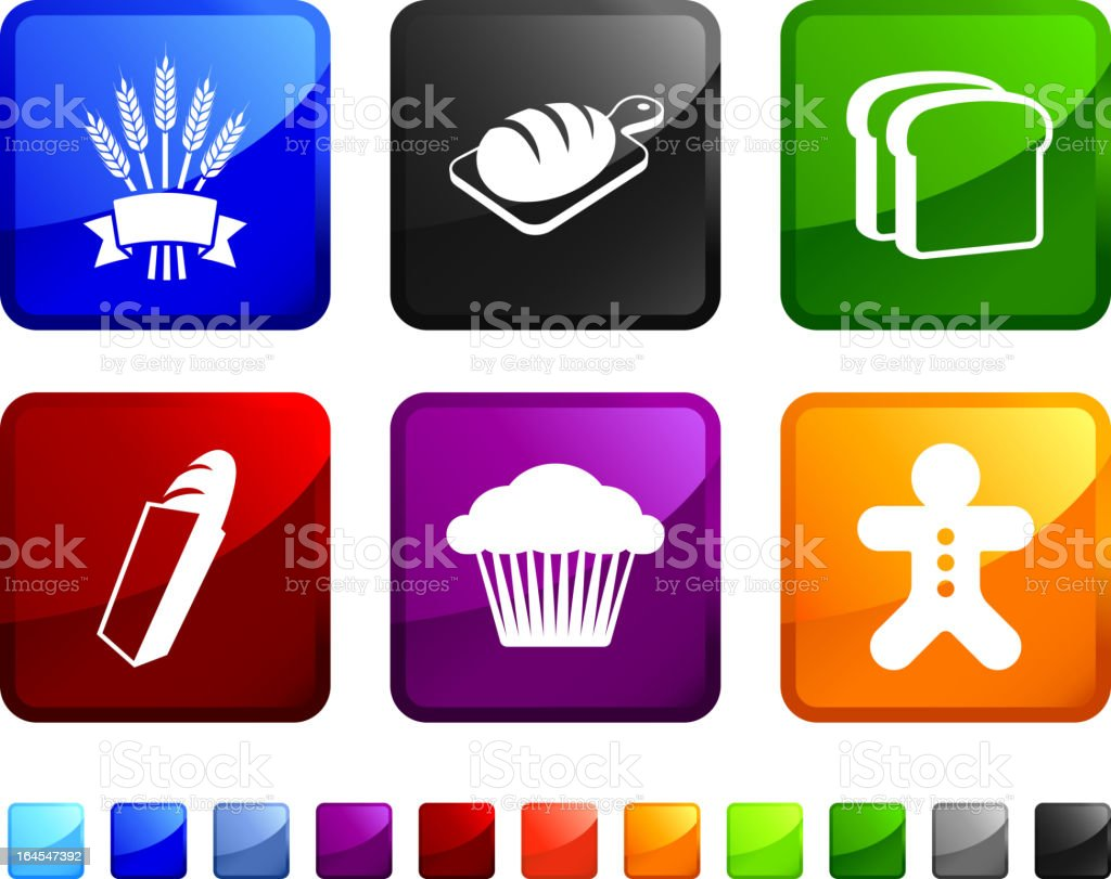 Bakery Food royalty free vector icon set stickers royalty-free stock vector art
