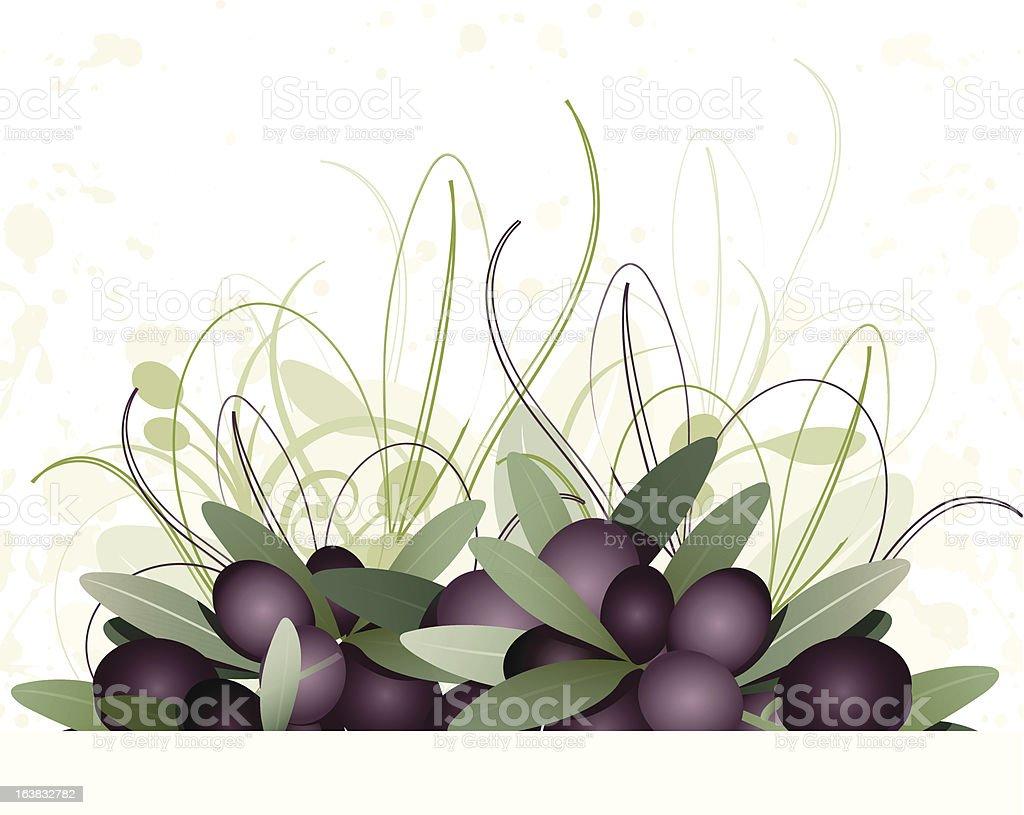 bakground olives black royalty-free stock vector art