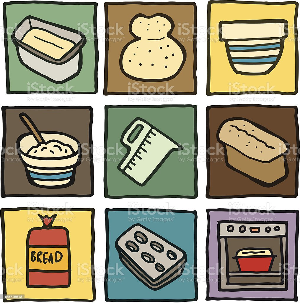 Baking icon doodles vector art illustration