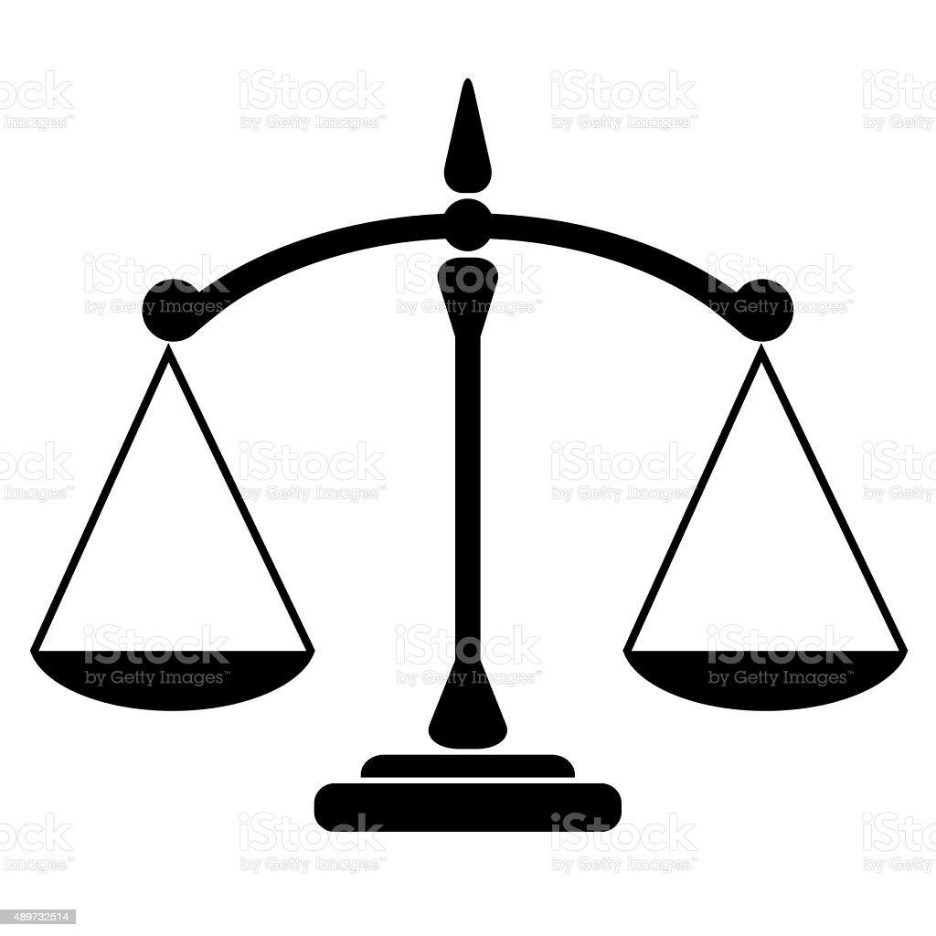 Balance icon vector art illustration