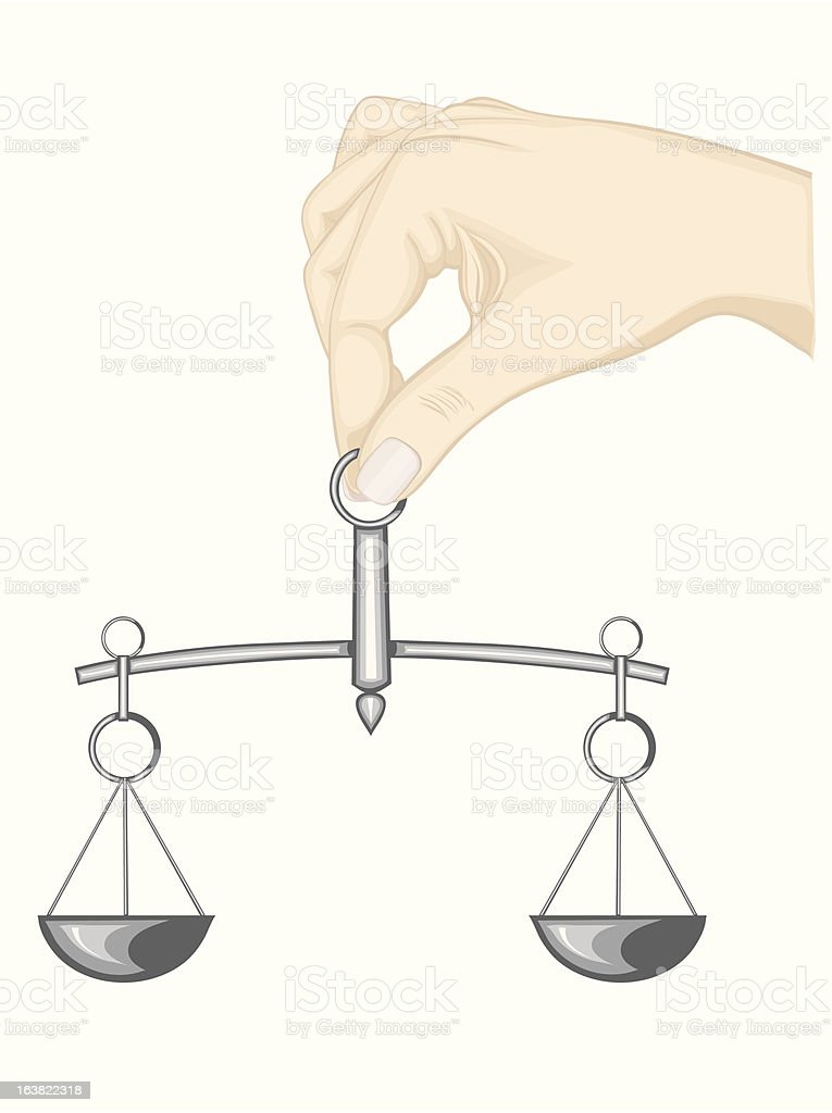 Balance justice royalty-free stock vector art