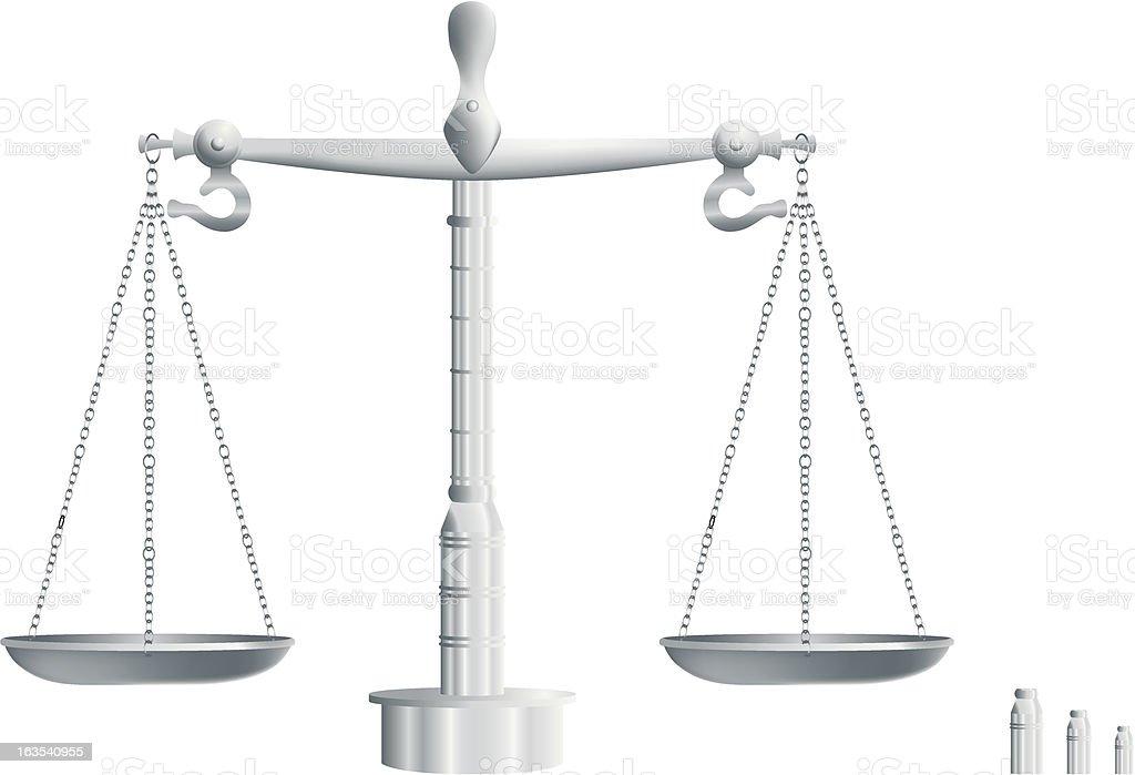 Balanced Silver Scale royalty-free stock vector art