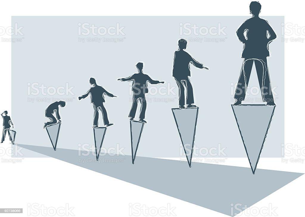 Balancing Act royalty-free stock vector art