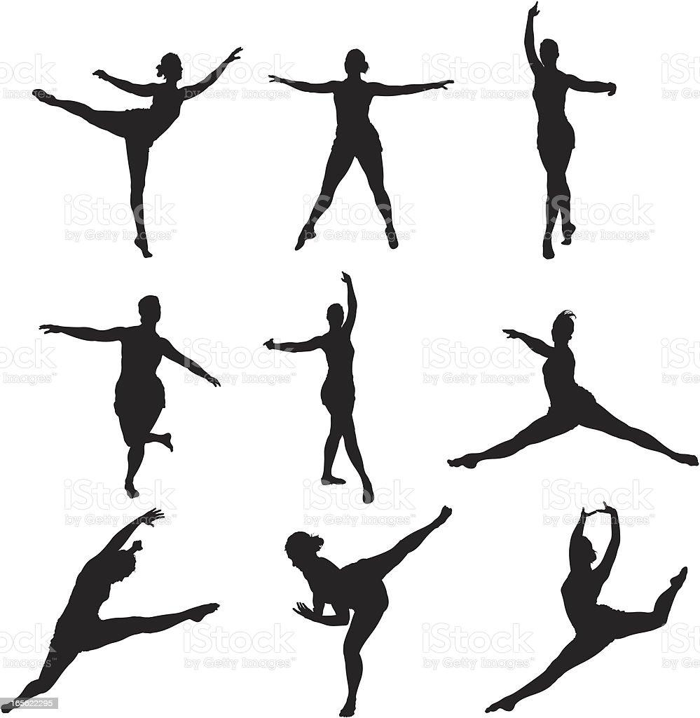 Ballet Dancer Silhouettes royalty-free stock vector art
