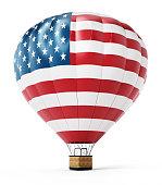 USA balloon isolated on white