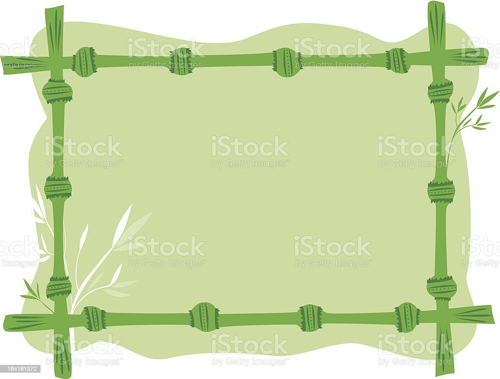 Bamboo frame royalty-free stock vector art