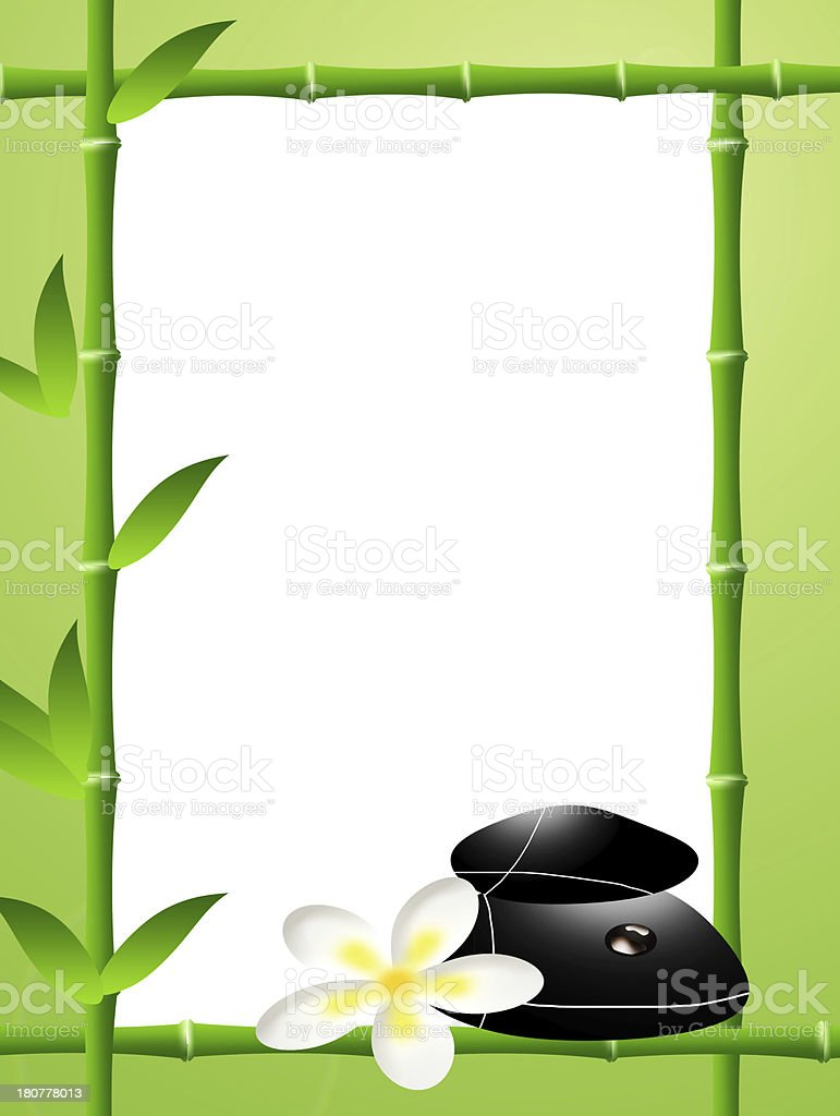 bamboo frame royalty-free stock vector art