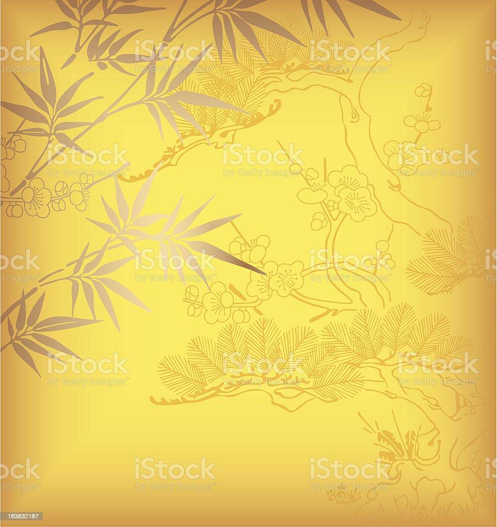 Bamboo Leaf vector art illustration