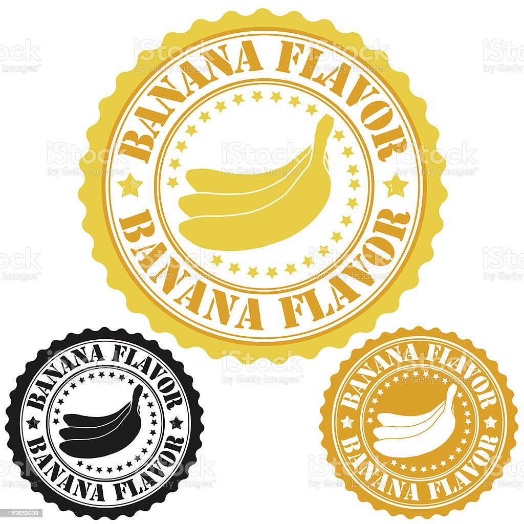 Banana flavor stamps royalty-free stock vector art