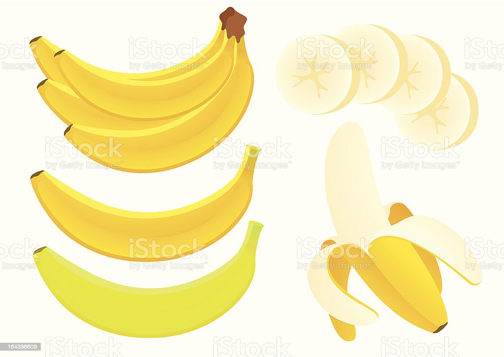 Banana vector art illustration