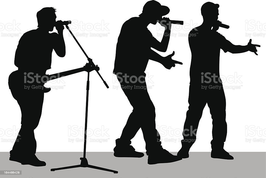 Band on stage royalty-free stock vector art