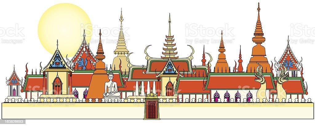 Bangkok royal palace royalty-free stock vector art