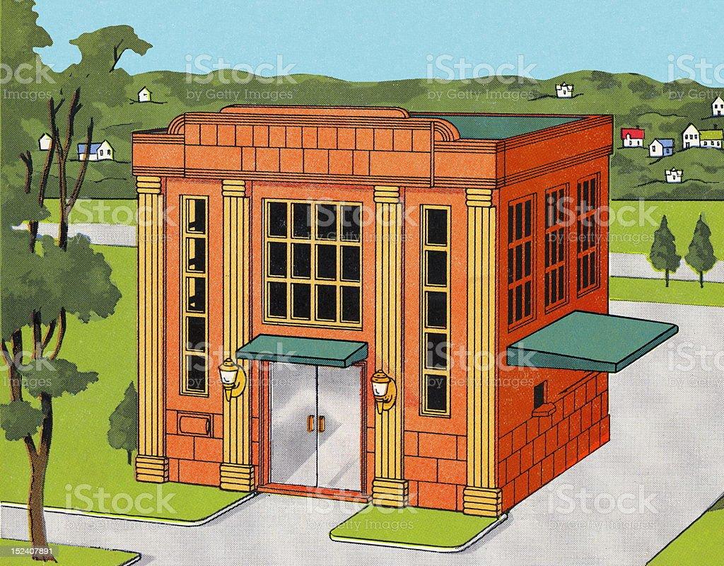 Bank Building royalty-free stock vector art