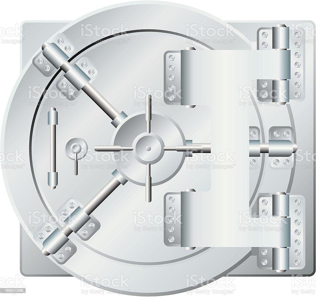 bank vault royalty-free stock vector art