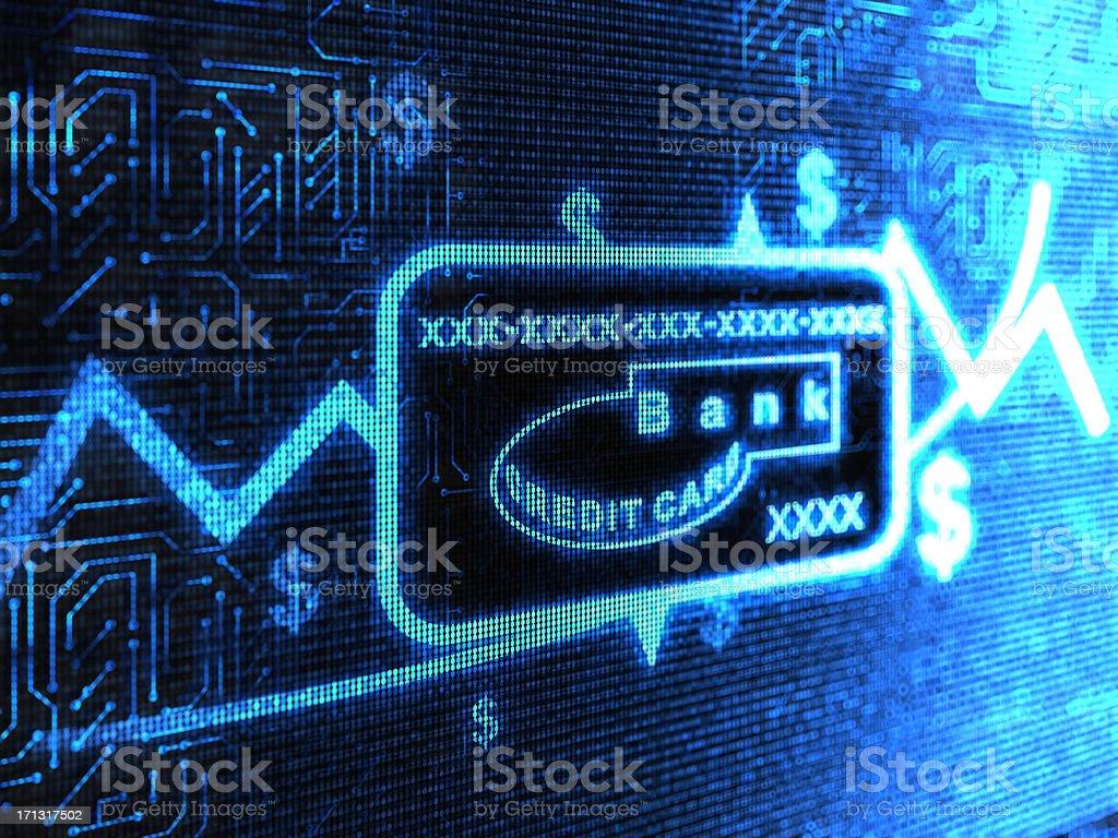 BankCreditCard vector art illustration