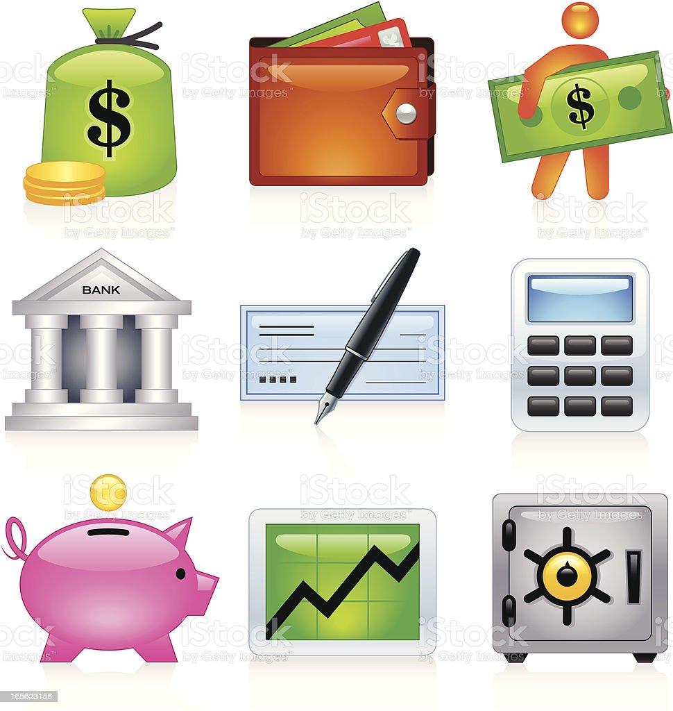 Banking Icons - Juicy Series vector art illustration