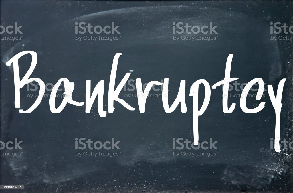 bankruptcy word write on paper vector art illustration
