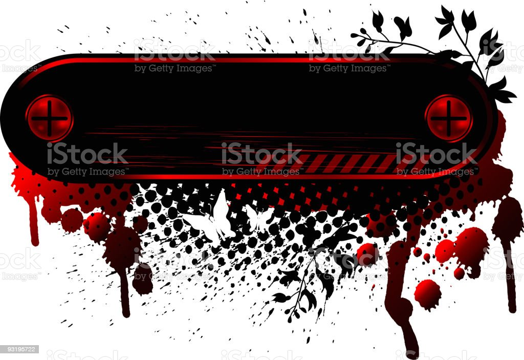 Banner Grunge Emo royalty-free stock vector art