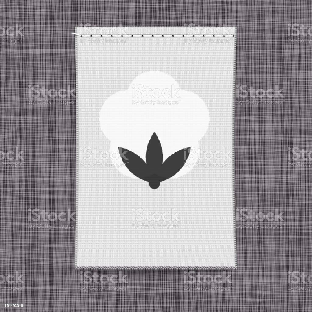 Banner with cotton royalty-free stock vector art