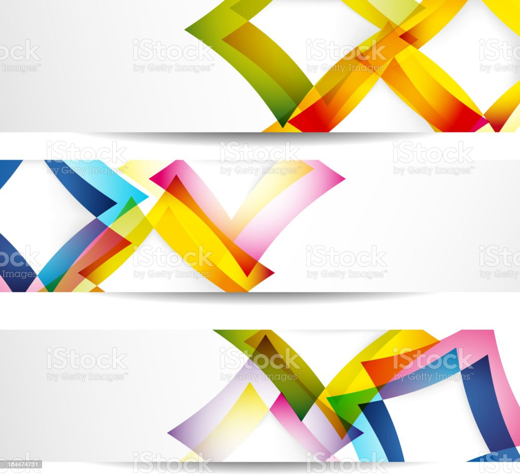 Banners royalty-free stock vector art