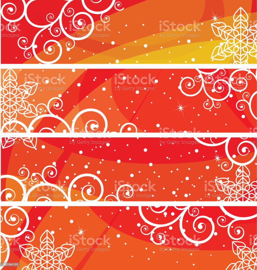 Banners set Christmas and New Year's background royalty-free stock vector art