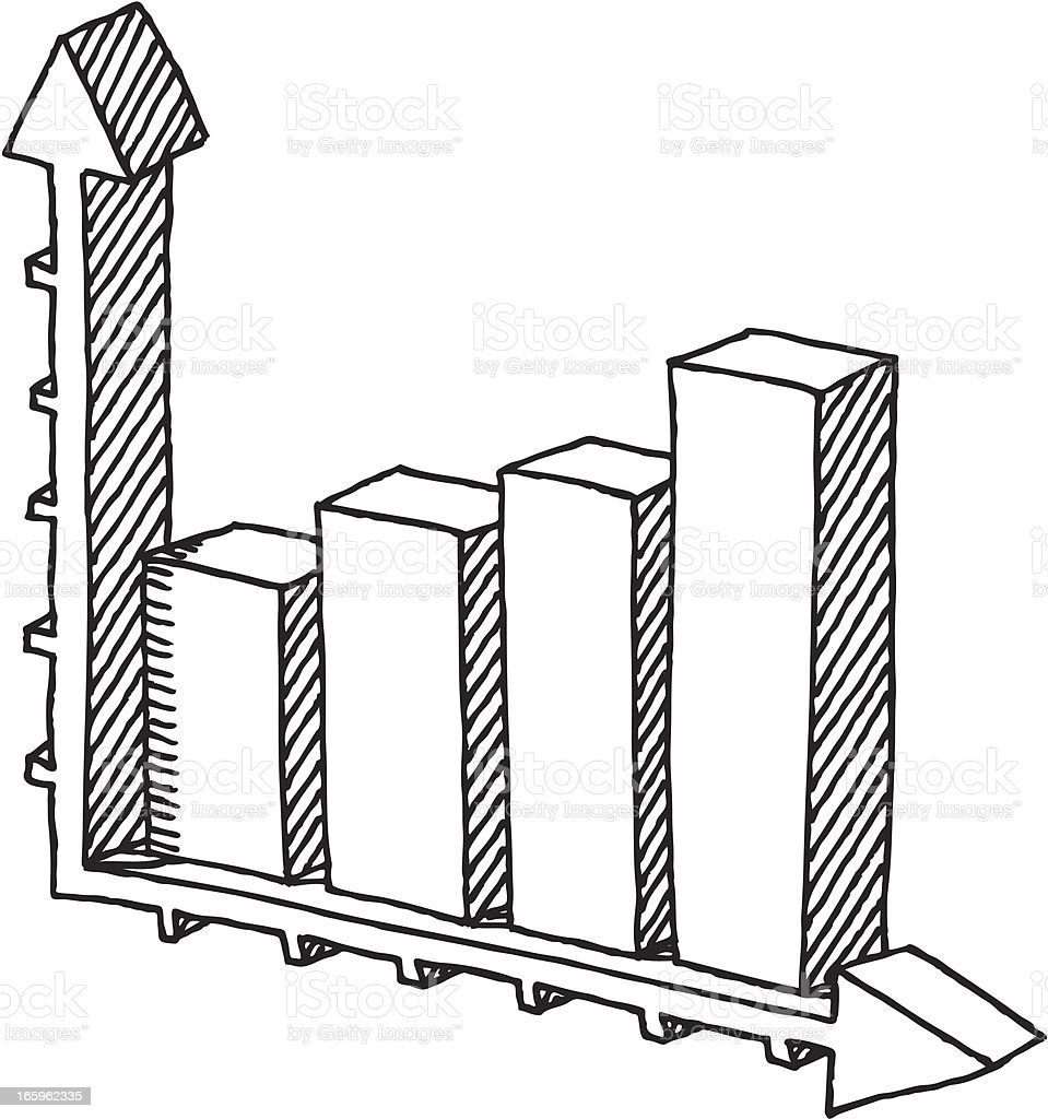 Bar Chart Success Drawing royalty-free stock vector art