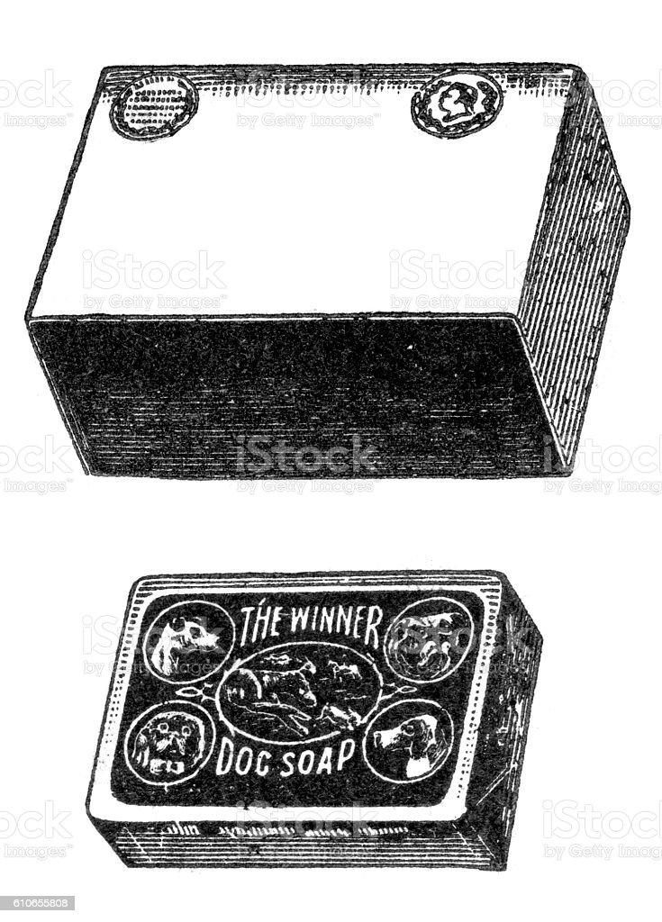 Bar Of dog Soap vector art illustration