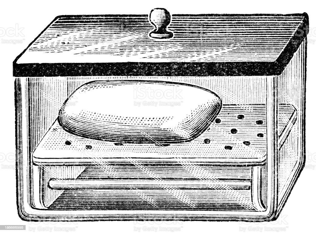 Bar Of Soap vector art illustration