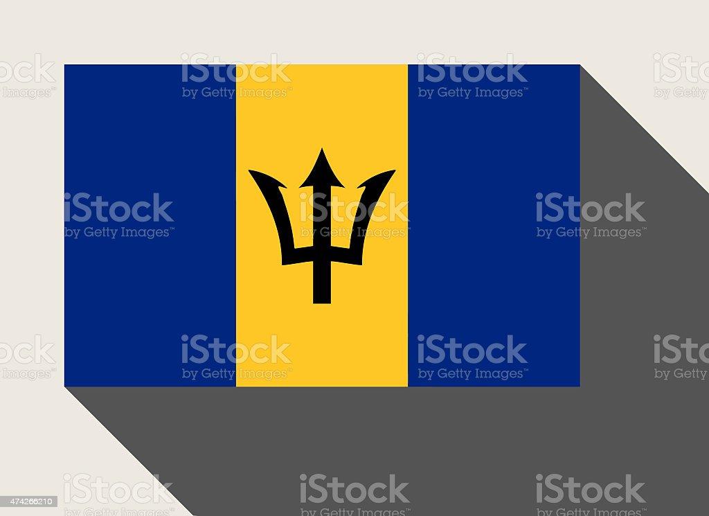 Barbados flag vector art illustration