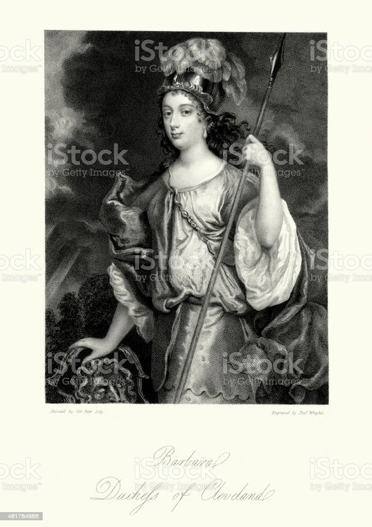 Barbara Palmer, 1st Duchess of Cleveland vector art illustration