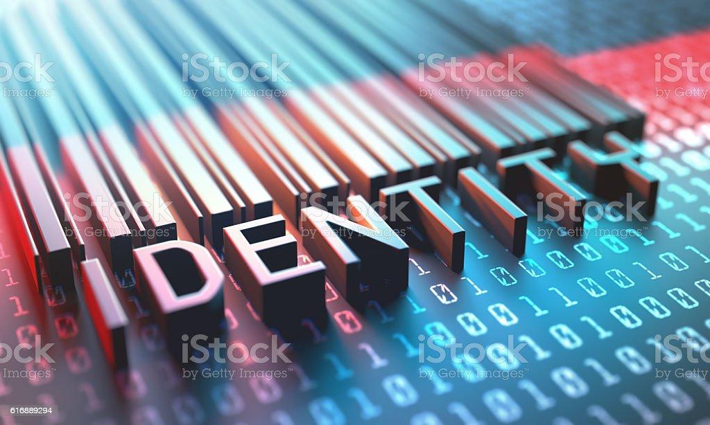 Barcode Digital Identity vector art illustration