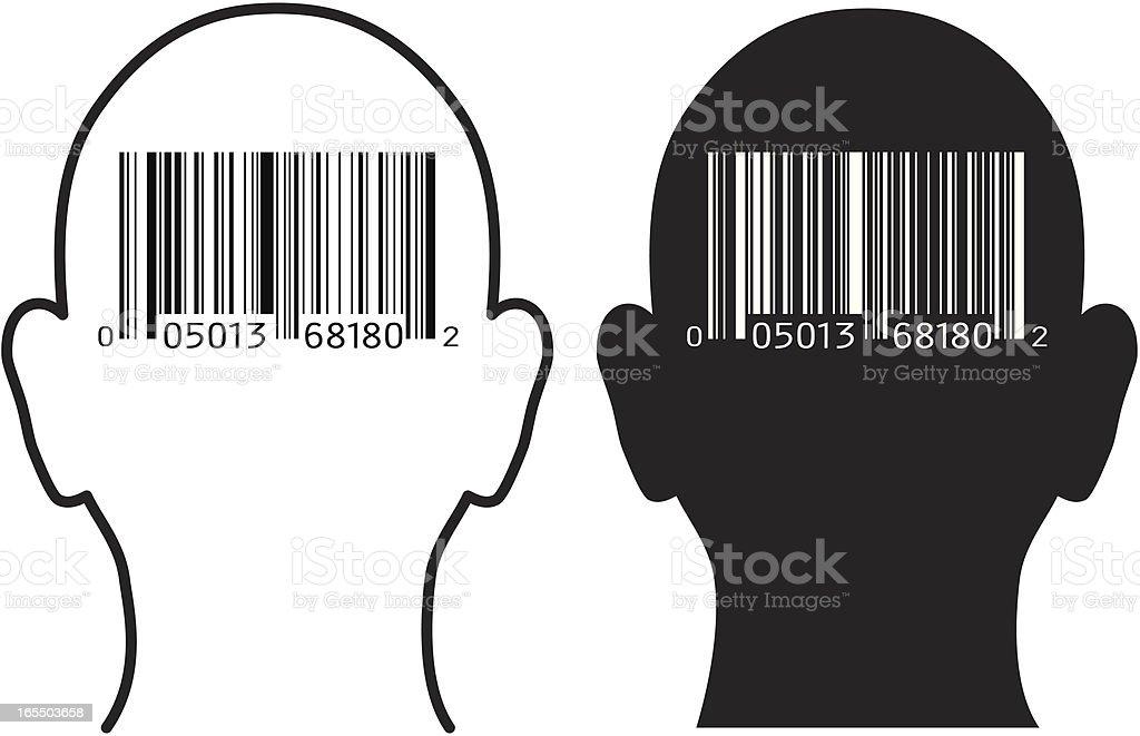 Barcode Man royalty-free stock vector art