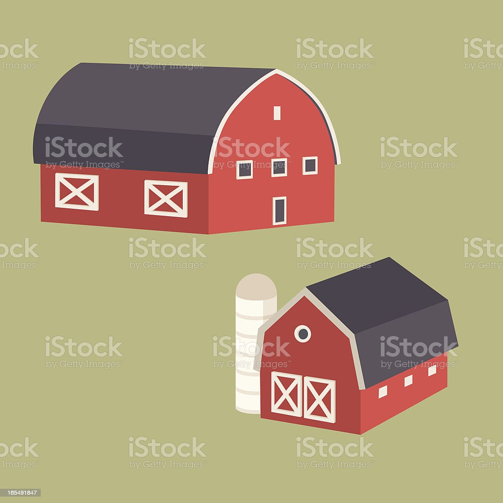 barns royalty-free stock vector art