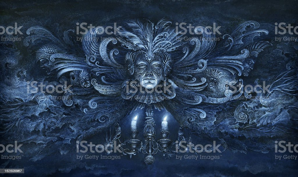 Baroque fantasy vector art illustration
