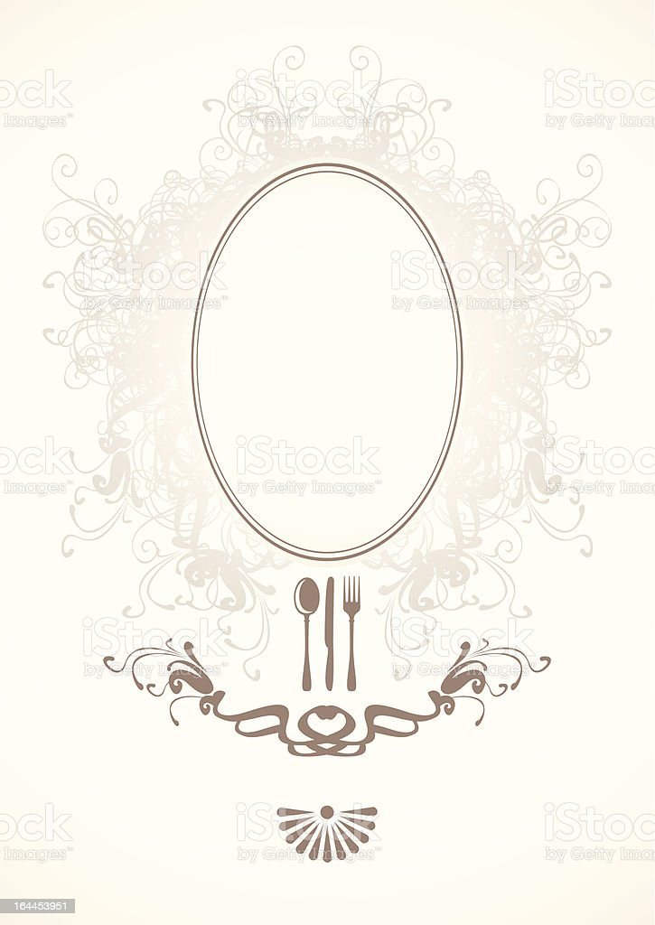 baroque frame royalty-free stock vector art