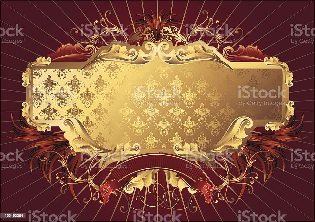 Baroque tag royalty-free stock vector art