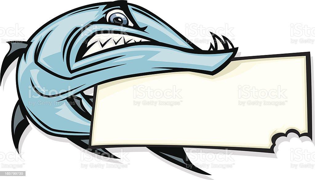 barracuda sign royalty-free stock vector art