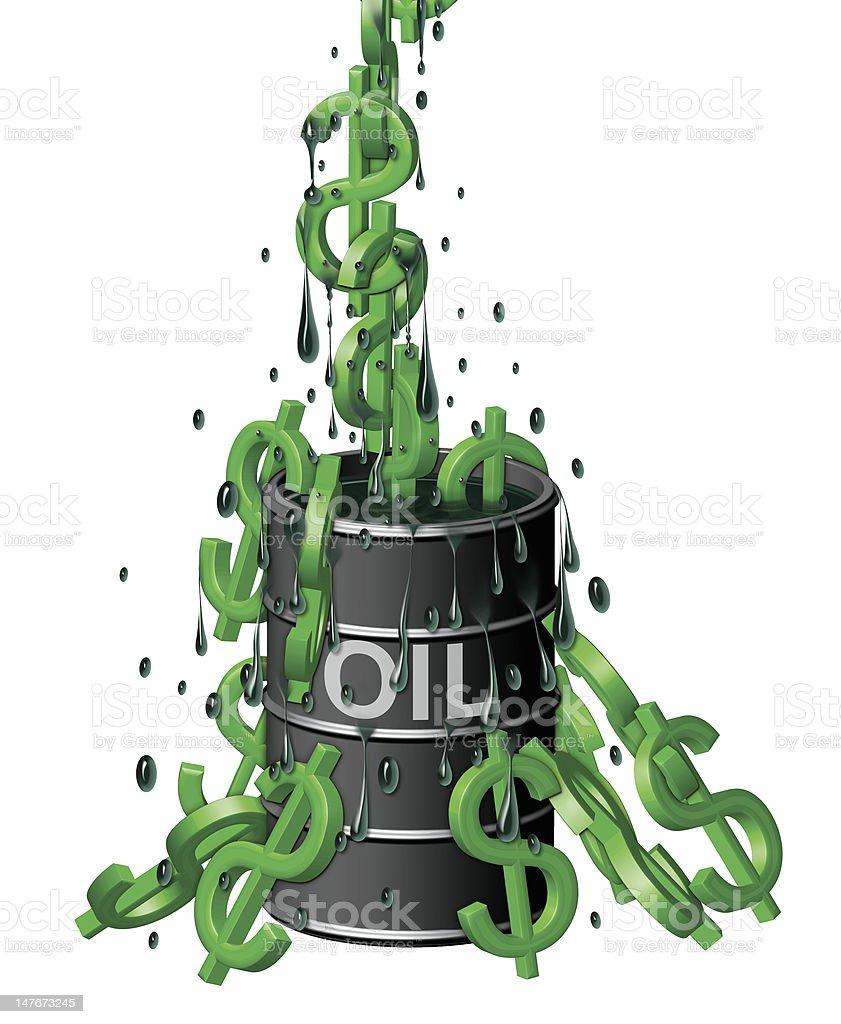 Barrel of Dollars royalty-free stock vector art