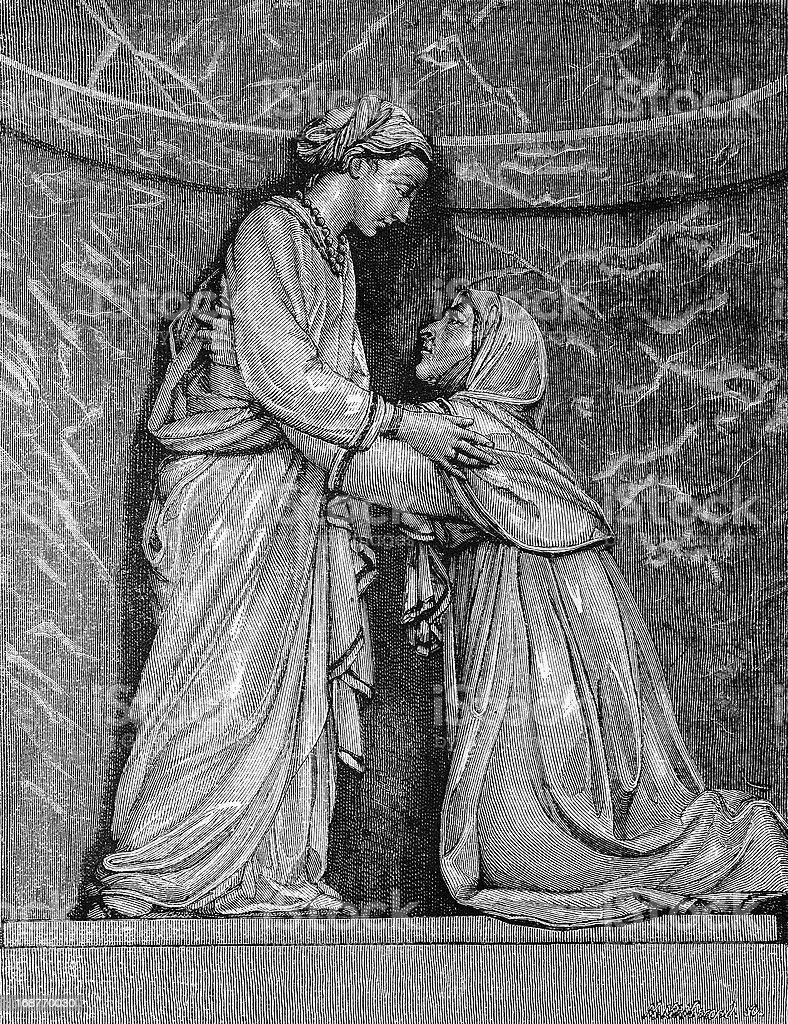Bas relief in Pistoia vector art illustration